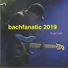 Fender Guitar Bass Amplifier NAMM 2019 BROCHURE CATALOG MINT UNREAD Stratocaster