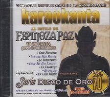 Espinoza Paz Serie Disco De Oro Vol 70 Karaoke New Sealed