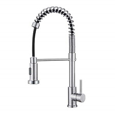 OWill Kitchen Mixer Tap 360°Swivel, Modern Single Handle Spring Kitchen Sink Out