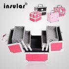 High Grade Aluminum Makeup Cases PU Leather Makeup Box Cosmetic Case Makeup Bags