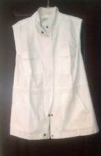 NEW Woman Within 2X 26/28 Utility Shirt Jacket Sleeveless White