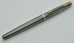 Parker 75 Cisele Sterling Silver Fountain Pen USA No Nib For Part