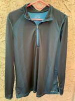Eddie Bauer FreeHeat 1/4 Zip Athletic Women's Jacket Size XL Black & Blue NWOT
