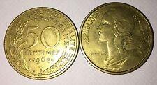 50 centimes LAGRIFFOUL 1963 col 3 plies