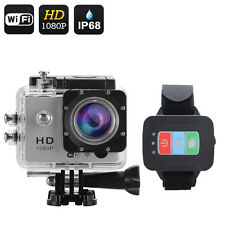 VIDEO FOTOCAMERA MOD GO-PRO 12 MPX FULL HD WIFI + OROLOGIO SUBACQUEA USB SD HDMI