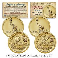 American Innovation Statehood $1 Dollar Coin - 2018 1st Release 2-Coin Set P & D