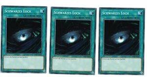 3 x Schwarzes Loch YSYR-DE025, Common, Mint, Deutsch, Playset