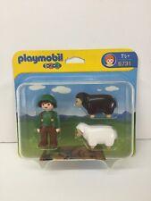 Playmobil Figure 1-2-3 Farm Farmer Shepherd w/ Suspenders Hat 6731