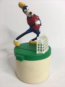 Vintage  Disney Mechanical 1981 Coin Bank Soccer Goofy Paragon Reiss  Works!
