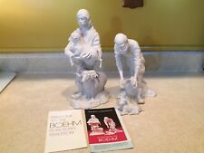 Boehm Nativity Young Shepherds 3 Piece, 2 Shepherds & Lamb, Christian Collection