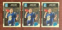 Lot of (3) 2016 Donruss Optic JARED GOFF Rated Rookie Cards #172 Base RC Rams🔥