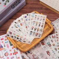 6Sheet Cute Cartoon Sticker Scrapbooking Album Diary Decorative Adhesive Paper*