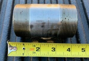 "2"" x 4"" NPT Pipe Nipple Schedule 80 316 Stainless Steel Threaded on Both Ends"
