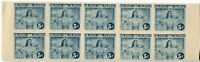 Philippines Occupation Stamps #N29a Block of 10 1943 Postage Collection  Mint NH