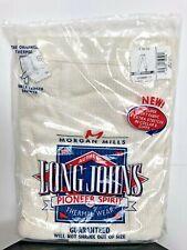 Morgan Mills Long Johns Pioneer Spirit Men 3XL Thermal Wear White Ankle Drawer