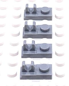 Lego Part 4598526 1x2 Plate With Vertical Grip  X4 92280 Light Bluish Grey