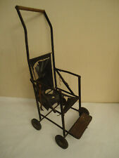 Antique Rare Victorian or German Metal Baby Doll Baby Carriage Buggy- Unrestored
