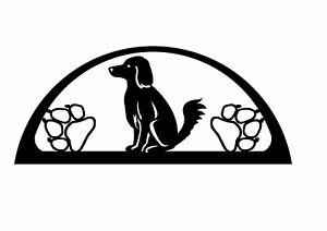 Edelstahlschwibbogen für Außen (einfach) Motiv Hund
