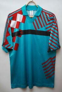 ADIDAS 1991 VINTAGE MADE IN JOGOSLAWIA USSR FOOTBALL SHIRT SOCCER JERSEY SIZE L