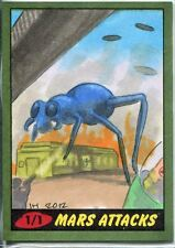 Mars Attacks Heritage Sketch Card By Ingrid Hardy