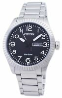 Citizen Eco-Drive Men's Black Dial Day and Date Window 42mm Watch BM8530-89E