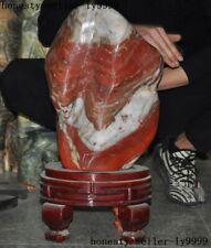 Rare huge China Hongshan Culture old Red Jade Feng Shui Exorcism Kistler statue