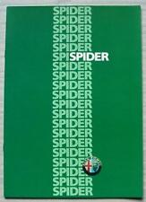 ALFA ROMEO SPIDER Car Sales Brochure 1986 DUTCH TEXT #NL 865207
