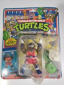 Powerliftin' DONATELLO 1992 Teenage Mutant Ninja Turtles TMNT broken seal