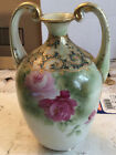 ANTIQUE HAND PAINTED VASE NIPPON