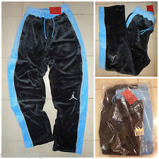 Vintage NIKE AIR JORDAN Velour Velours Sweat Pantalon Rétro survêtement basket-ball OG DS