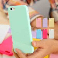 New Pastel Candy Glossy Shiny Soft Silicone Case for iPhone 4s 6S 7PLUS 5S 5C SE