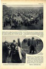 Pferdemarkt zu Charlottenburg Berlin Zigeunerkönig Petermann Bilddokumente 1907