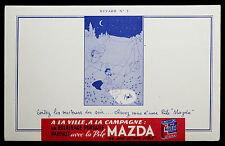 BUVARD PUBLICITAIRE ANCIEN : PILE MAZDA - ALBERT DUBOUT - N°5