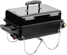 Weber Gas Grill Go-Anywhere 1-Burner Portable Propane Black Porcelain Enameled