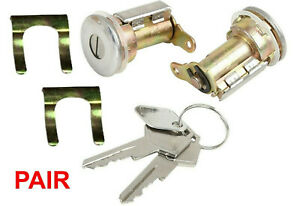 Pair Door Lock Cylinder with Key for Dodge B100 B200 Pickup Ramcharger