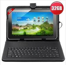 "32GB 10"" Inch A31s Quad Core Android Tablet + Keyboard Bundle Google Play Hdmi"