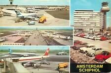 Postcard Amsterdam International Airport Schiphol different views