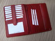 *Leder Brieftasche- Nappaleder - Rot - Dolphin Kollektion - Marke Artikel