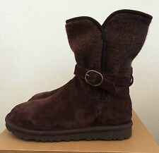 UGG Womens Size 6 Nyla Dark Brown Sweater Winter Boots Stout 1005391 (Youth 4)
