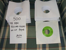 500/45rpm Record Sleeves/20 Wt Paper/NEW
