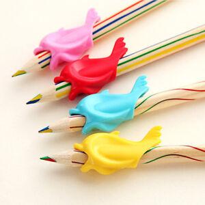 10Pcs Kids Silicone Grip Pen Orthotics Pencil Grasp Corrector Hold Pen Device