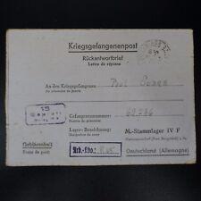 LETTRE PRISONNIER DE GUERRE ST ELOY -> STALAG IV F KRIEGSGEFANGENENPOST POW