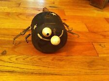 vintage handmade wood spider figure Bizarre Weird Halloween Spooky Creepy weird