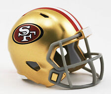 NUOVO Football Americano NFL Riddell velocità Pocket Pro Casco San Francisco 49ers