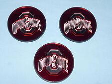 OHIO STATE BUCKEYES  durable Acryllic Laser Disc  INDOOR/OUTDOOR   Set of 3  NEW