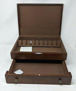 REED & BARTON Mocha Flatware Chest Box Case w/Drawer