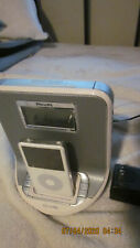 5th GENERATION 80GB IPOD WITH PHILLIPS ALARM CLOCK CHARGING DOCK