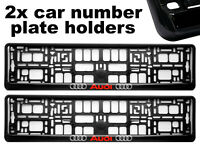 2 x Doming CAR Number Plate Surround Holder Frames BEST FIT for AUDI