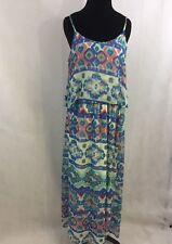 NWT Liberty Love Women's Multi-Color Peplum Spaghetti Strap Maxi Dress Size XL