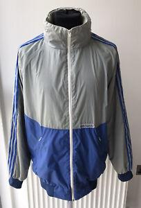 Adidas Vintage 80's Mens Ventex Made In France Hooded Rain Jacket Size UK Large